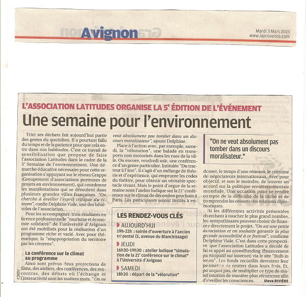 SDE présentation de la semaine La Provence 001